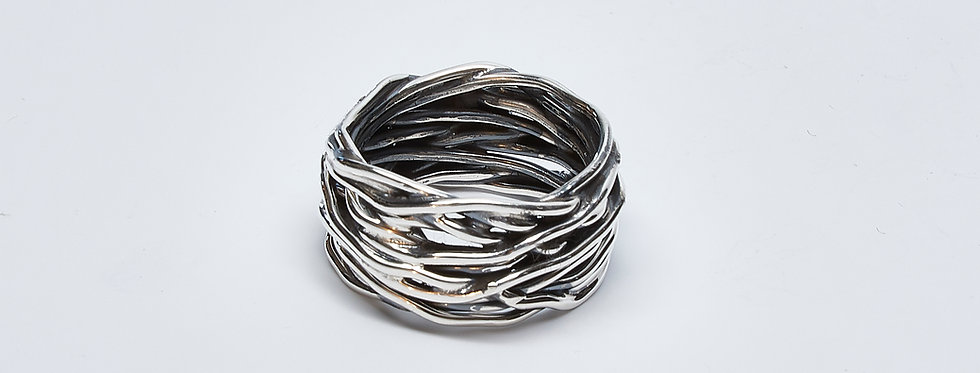 Oxidized Nest Band