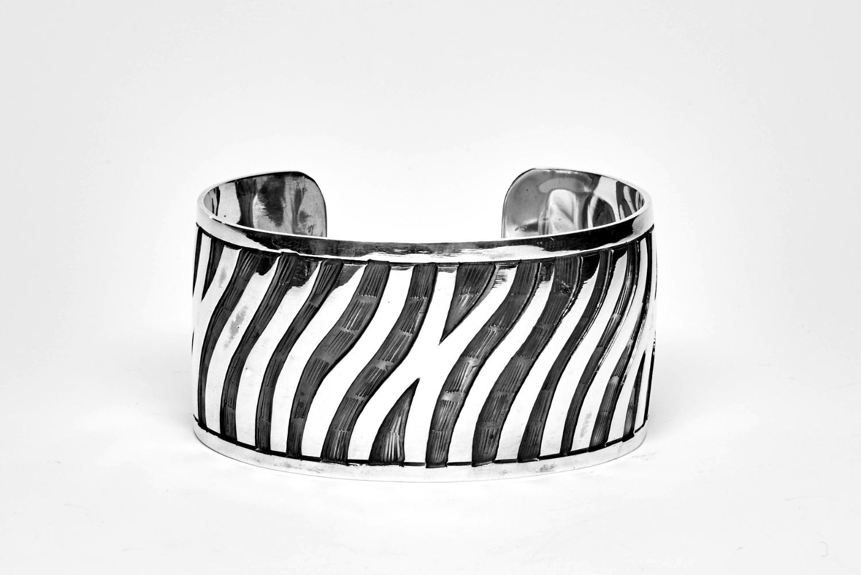 Oxidized Zebra Lined Cuff