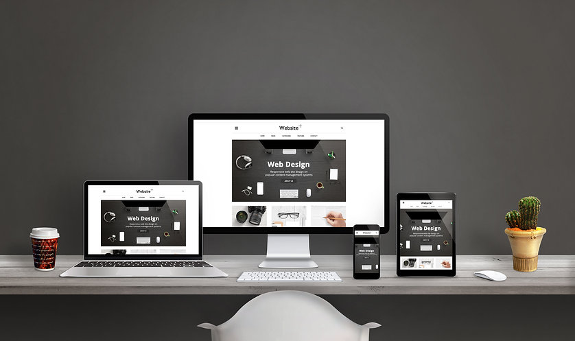 Web design studio with web site