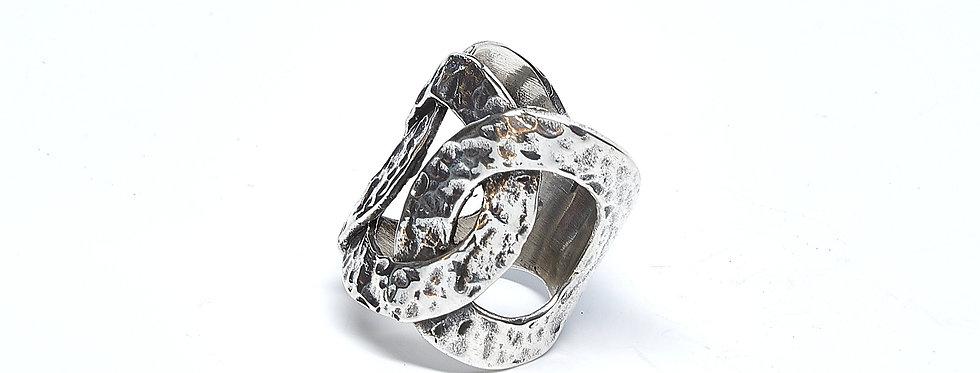 Hammered  Interlooped Ring