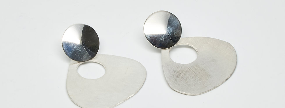 Brushed Triangle Post Earrings