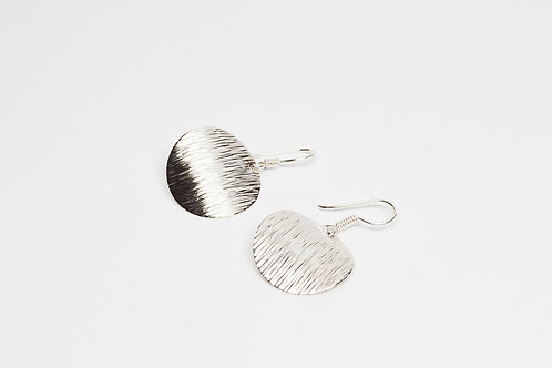 Round Lined Disk Earrings