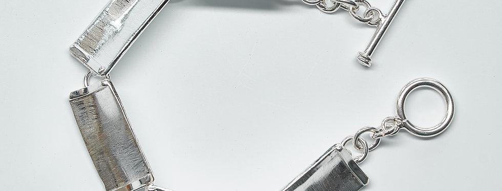 Brushed Rectangle Link Bracelet