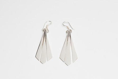 Triple Drop Dangle Earrings