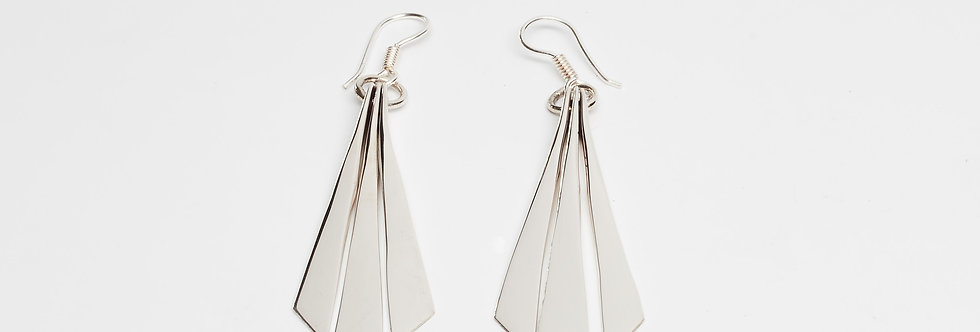 Triple Arrow Dangle Earrings