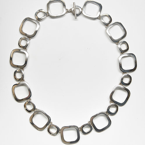 Circle & Square Link Necklace