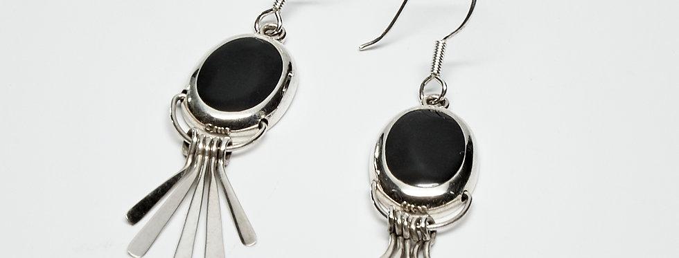 Onyx Fanned Dangle Earrings
