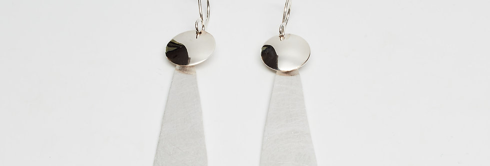 Brushed Teardrop and Shiny Top Earrings