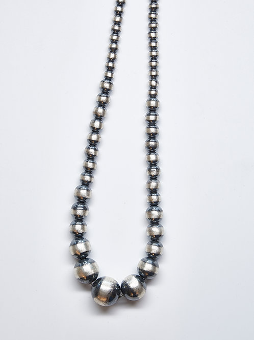 Oxidized Bead Necklace