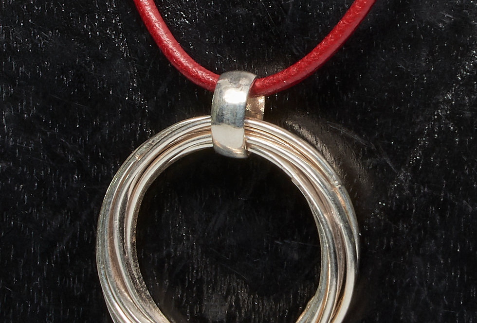 7 Ring Interloped Pendant