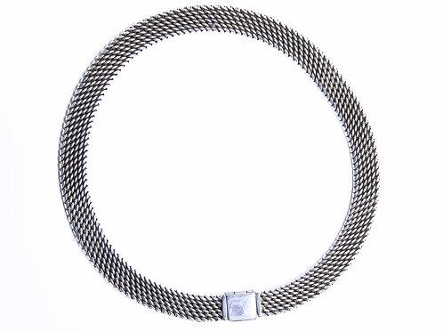 Oxidized Snake Link Necklace
