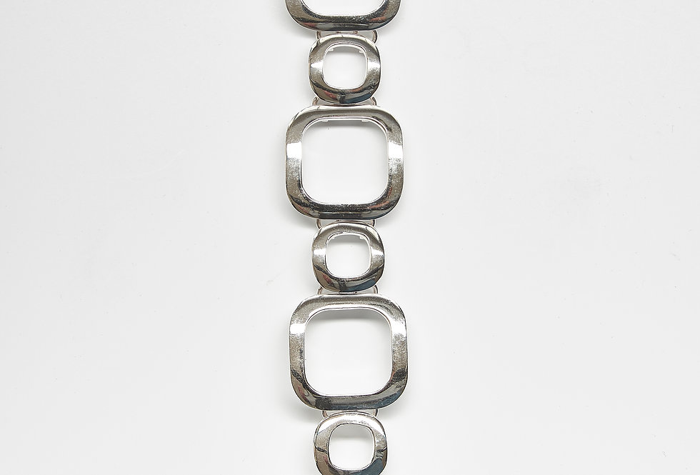Circle and Square Link Bracelet