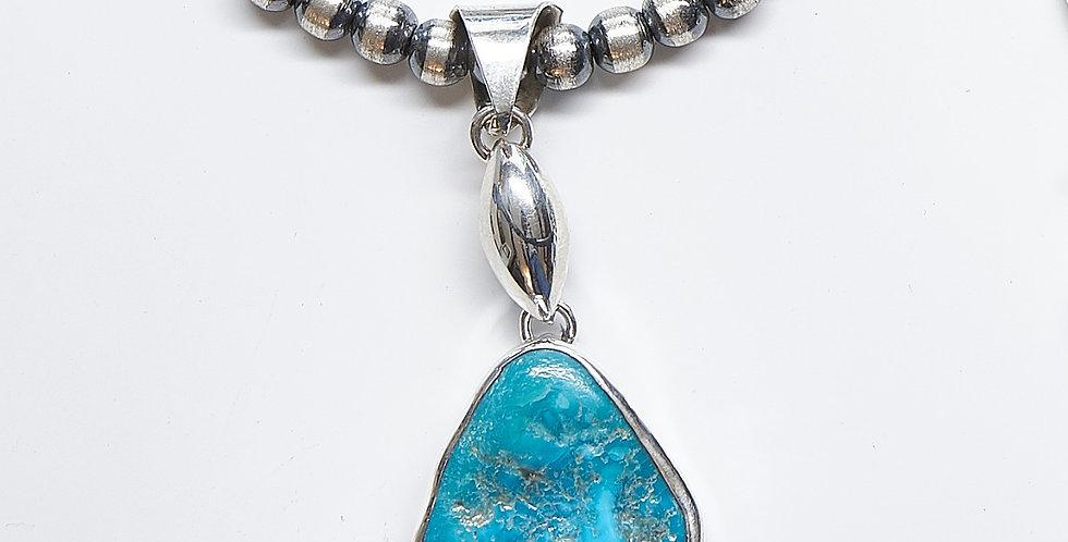Sleeping Beauty Turquoise Seed Link Pendant