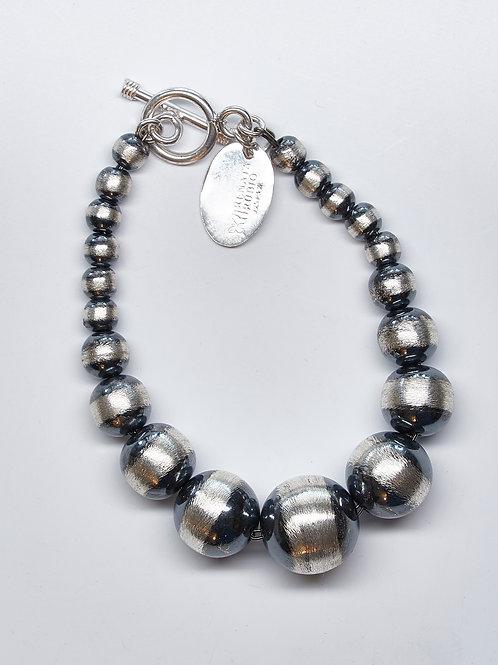 Oxidized Bead Bracelet
