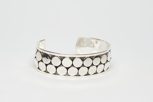Cuff with Double Row of Shiny Circles