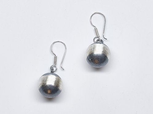Oxidized Bead Earrings
