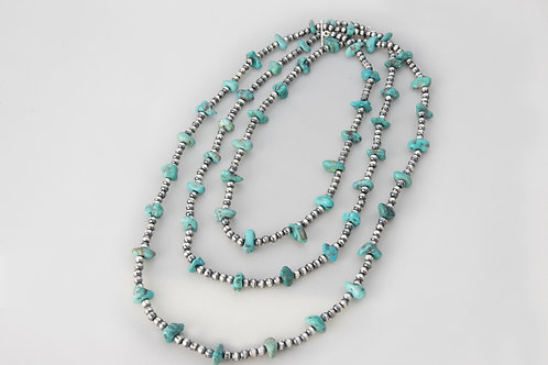 6 Foot Long Sonora Turquoise Necklace
