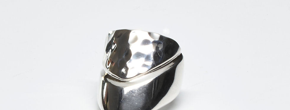 Half Pounded Arrow Ring
