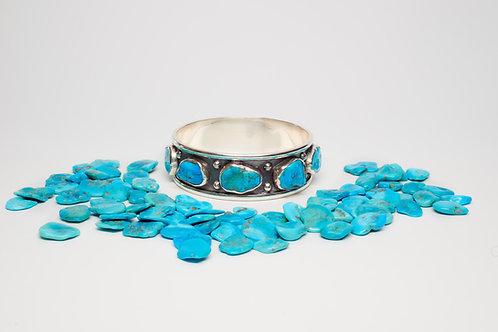 Oxidized Sleeping Beauty Turquoise Bangle