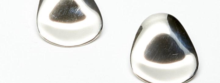 Curved Wavy Petal Post Earrings