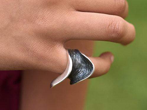 Sideways Saddle Wax Cast Ring