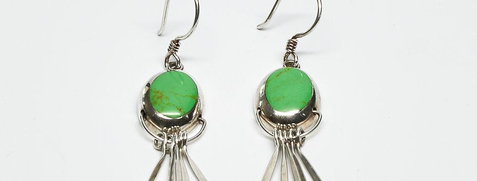 Gaspeite Fanned Dangle Earrings