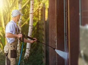 Garage Gate Water Cleaning. Garage Walls