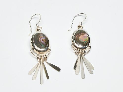 Abalone Shell Fanned Dangle Earrings
