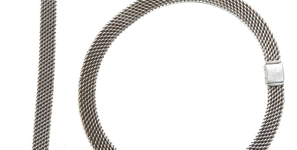 Snake Link Set of Necklace and Bracelet