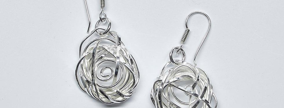 Twisted Rose Earrings