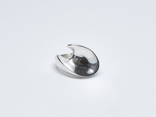 Oval Concave Open Ring