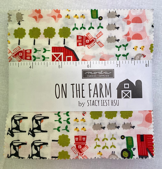 "Charm square pack ""On The Farm"""