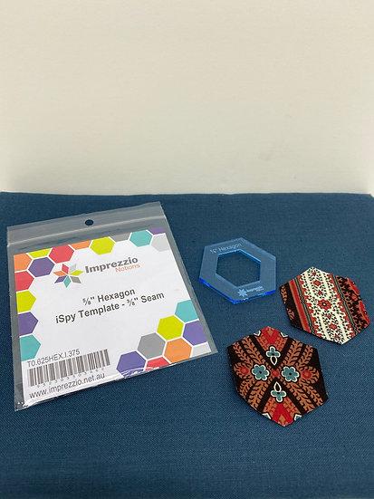 5/8 Hexagon Template