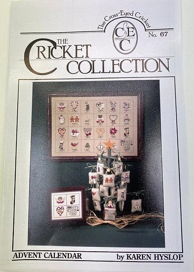 Cross stitch Advent Calendar Pattern