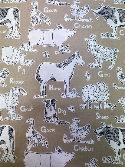 "Backing Fabric for ""Baa Baa Baby Sheep Quilt"""""