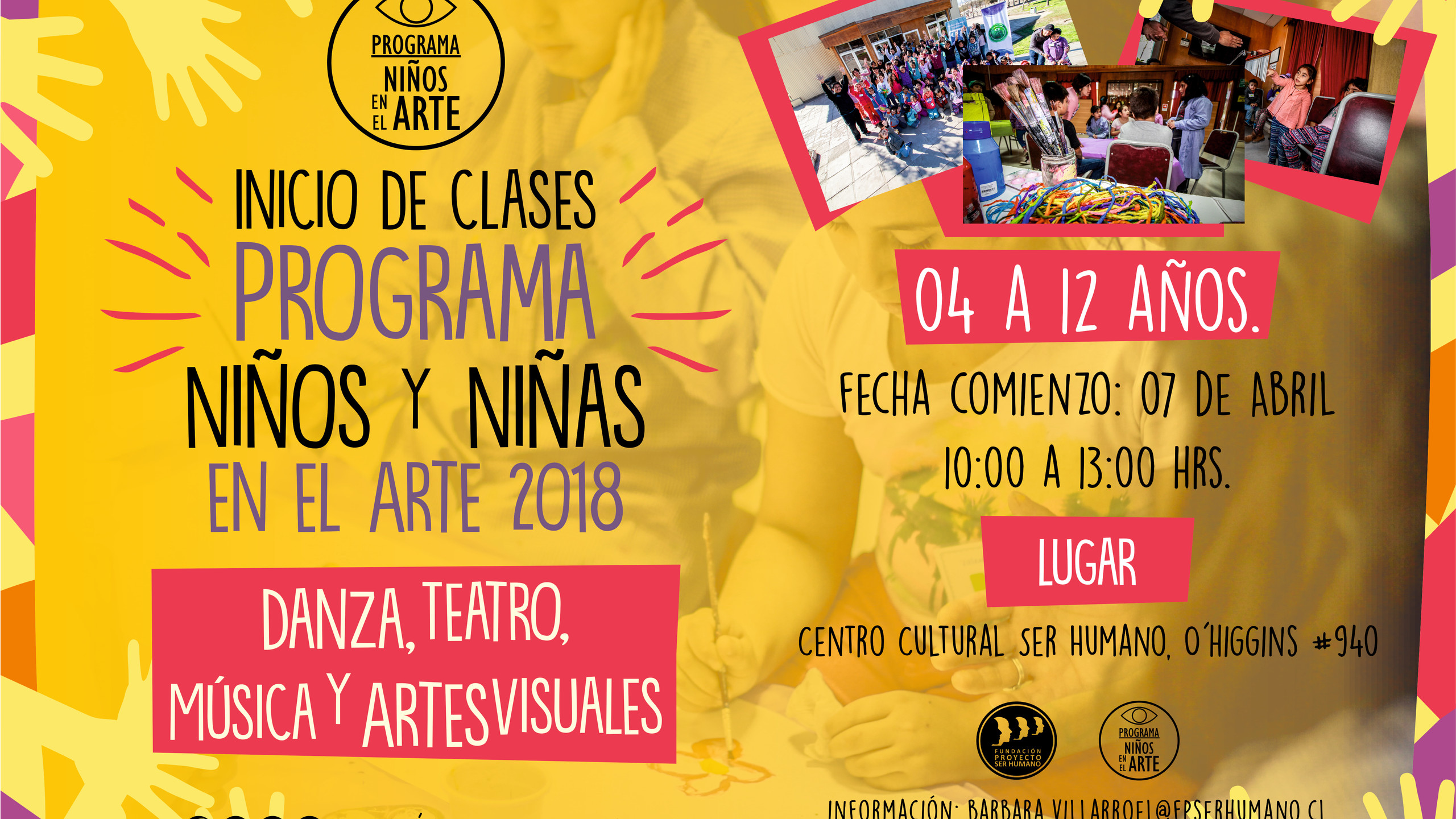 Programa Niños y Niñas en el Arte