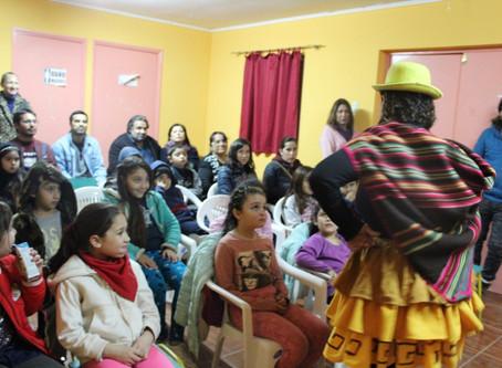 Vecinos del sector bomberos de Paipote recibieron con entusiasmo a Culturarte Itinerante