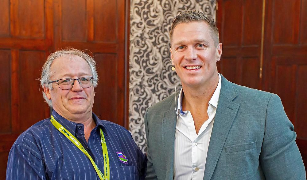Philip von Memorty with former Springbok, Jean de Villiers.