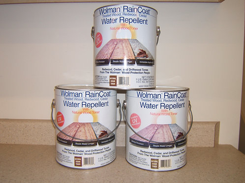 Wolman Raincoat Water Repellent Wood Toner, $6.00 a can
