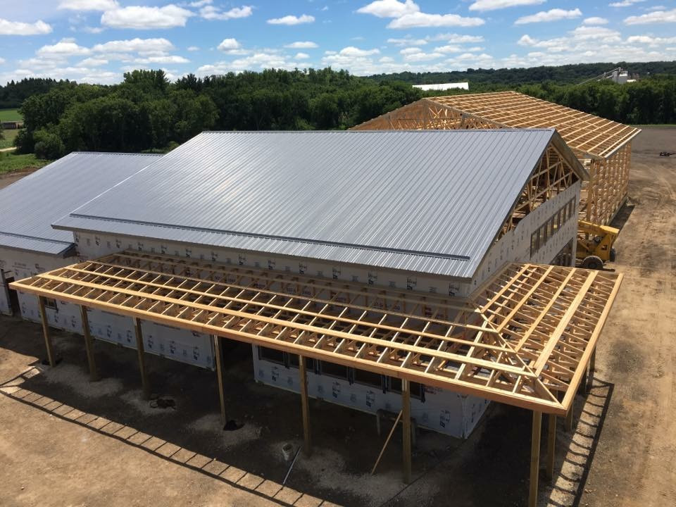 Post Frame construction for residential, commercial, and agricultural buildings Rochester and SE Minnesota with building materials by Chatfield Lumber Company Eyota MN