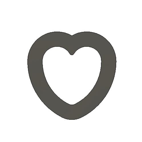 """1"""" x 1"""" Heart Cutter"""