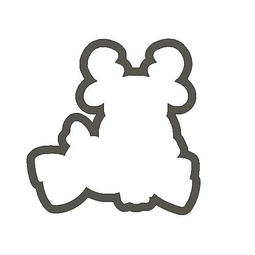 "3.5"" Reindeer W/Scarf Cookie Cutter"