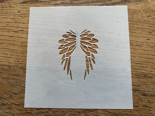 """3"""" Angel Wings Cookie Stencil"""