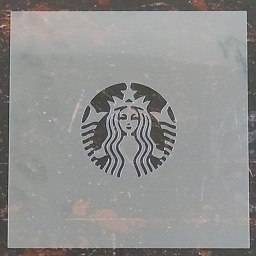 """3-1/2"""" x  2"""" Coffee Label Stencil"""