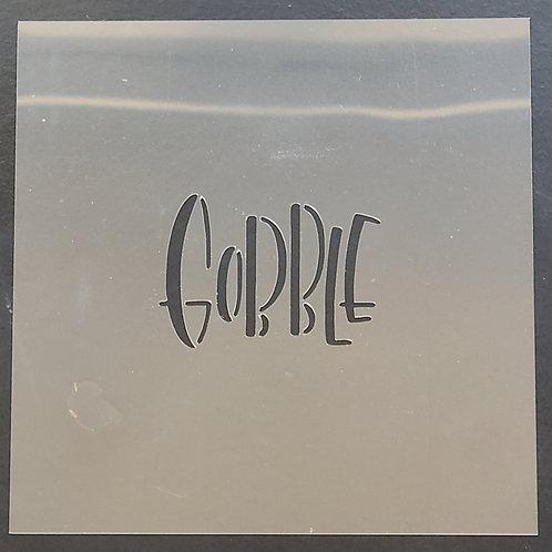 "2"" x 2-1/2"" Thanksgiving (Gobble) Stencil"