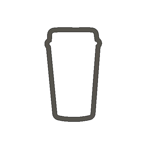 "3-1/2"" x  2"" StarBucks Coffee Cup Cutter"
