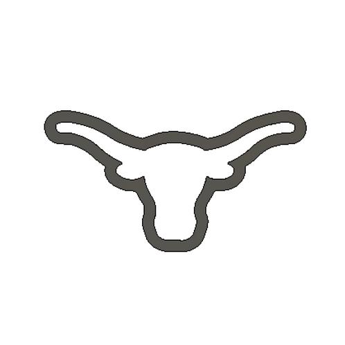 """2"""" x 3-3/4"""" Texas Longhorn Cutter"""