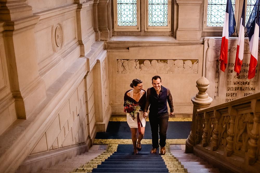 photo mariage paris 14 mairie cérémonie civile