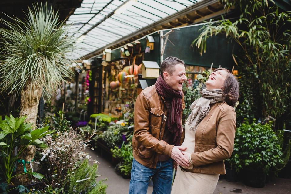 photo grossesse couple Paris île de la cité émotions