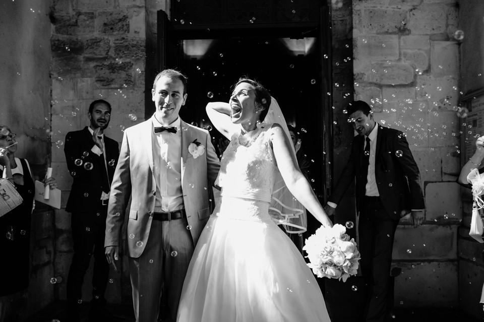 photo mariage 92 cérémonie religieuse sortie